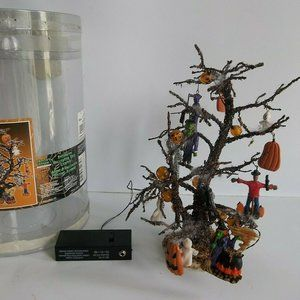 Spooky Town Decorated Tree Halloween Lighted RARE